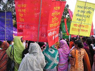 バングラディッシュでの女性デーのようす