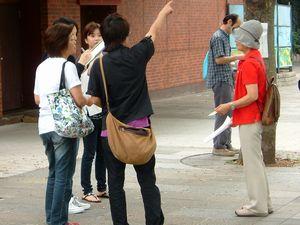 9日に行った、関内駅前宣伝署名行動